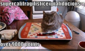 This is why I hate scrabble. Cheating cats.